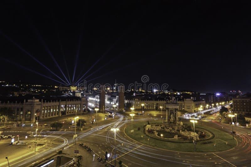 Площадь de España, Барселона стоковое изображение