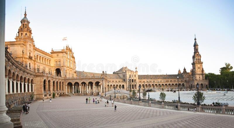 Площадь di espana в Севилье стоковая фотография