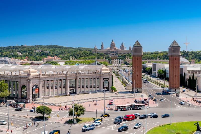 Площадь Espania Барселоны Испании стоковое изображение rf