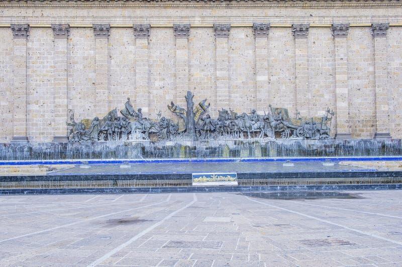 Площадь Fundadores в Гвадалахаре стоковые изображения