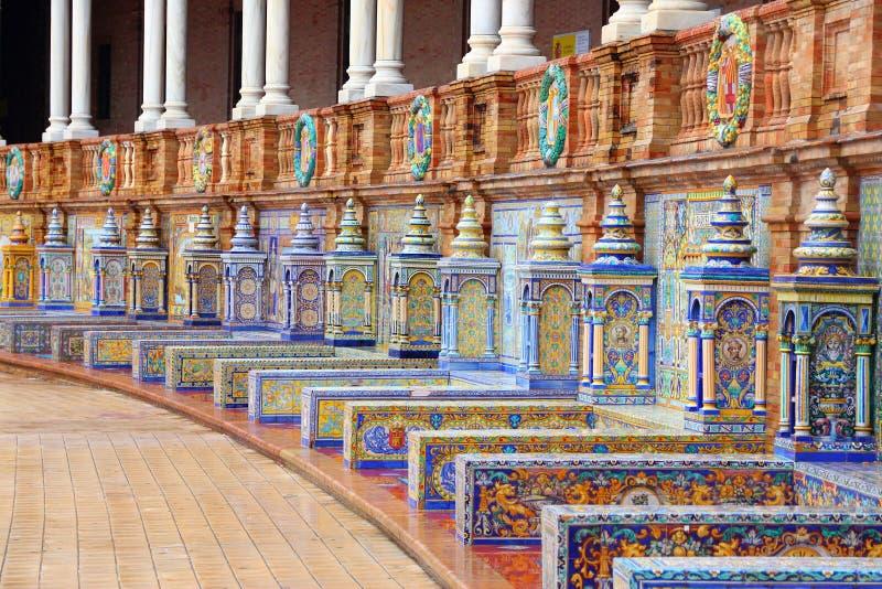 площадь sevilla de espana стоковое фото