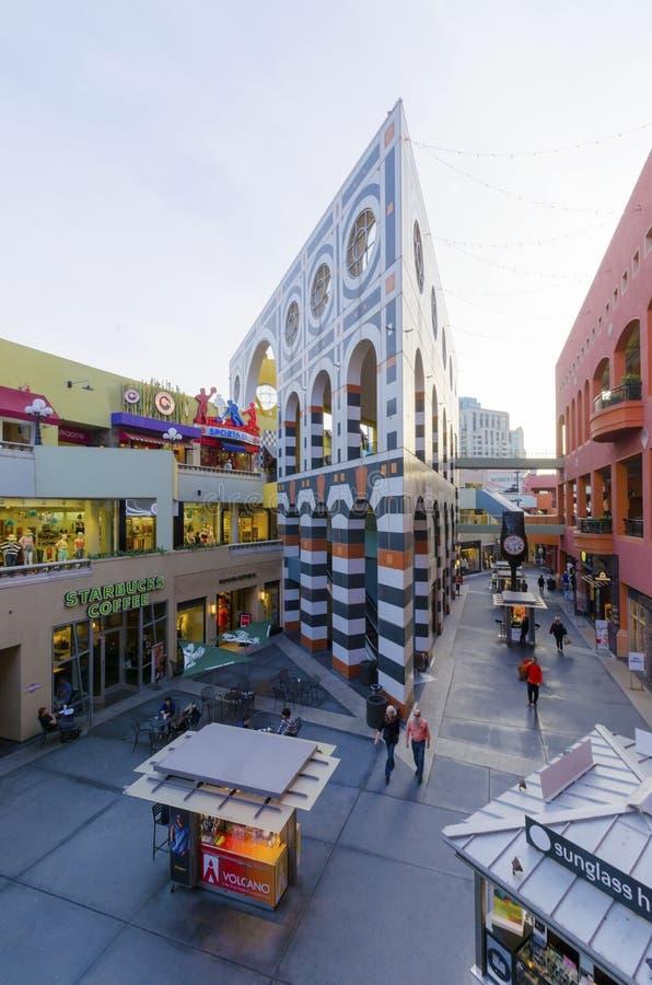 Площадь Westfield Horton, Сан-Диего стоковое изображение