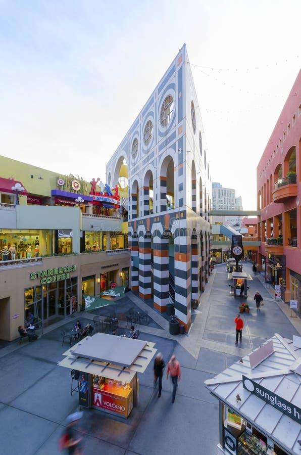 Площадь Westfield Horton, Сан-Диего стоковое изображение rf