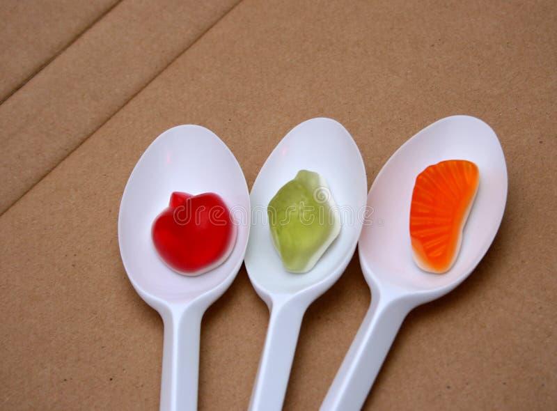 Плодоовощ вкуса студня, десерт конфеты, Bonbons стоковое изображение