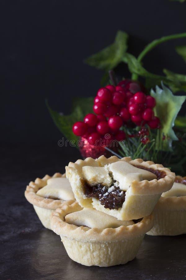 Плодоовощ рождества семенит пироги вертикальные стоковые фотографии rf