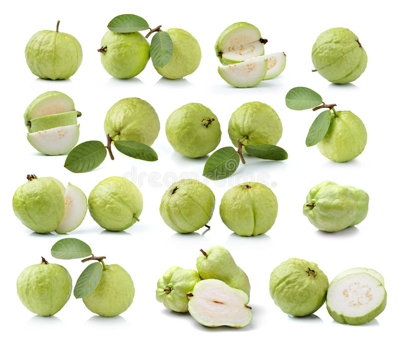 Плодоовощ Guava изолированный на белой предпосылке стоковое изображение