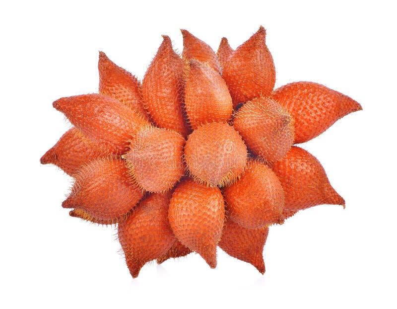 Плодоовощ Salacca или zalacca тропический на белой предпосылке стоковое фото