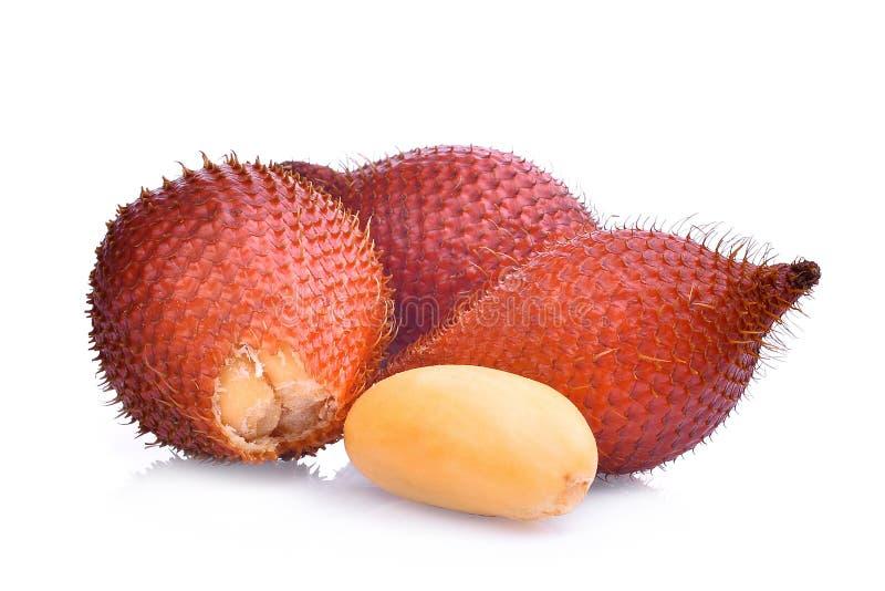 Плодоовощ Salak, zalacca salacca, тропический плодоовощ изолированный на белизне стоковое изображение rf