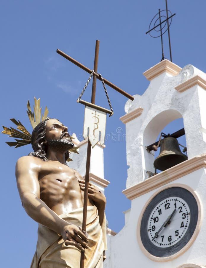 Плывите с воскрешенным Chirst близко к церков, Испанией стоковое изображение