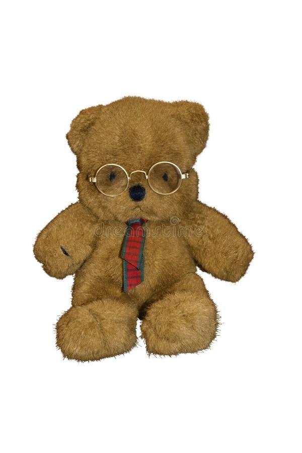 Плюшевый медвежонок в одежде дела стоковая фотография