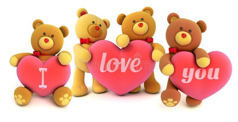 Плюшевый медвежонок игрушки иллюстрация вектора