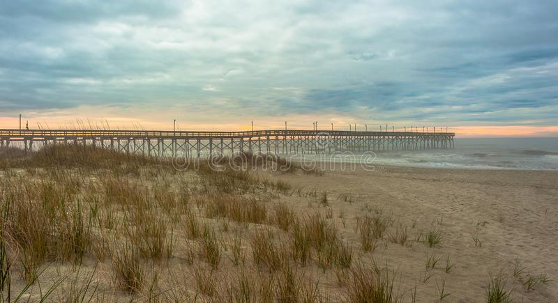 Пляжи Северной Каролины стоковое изображение rf