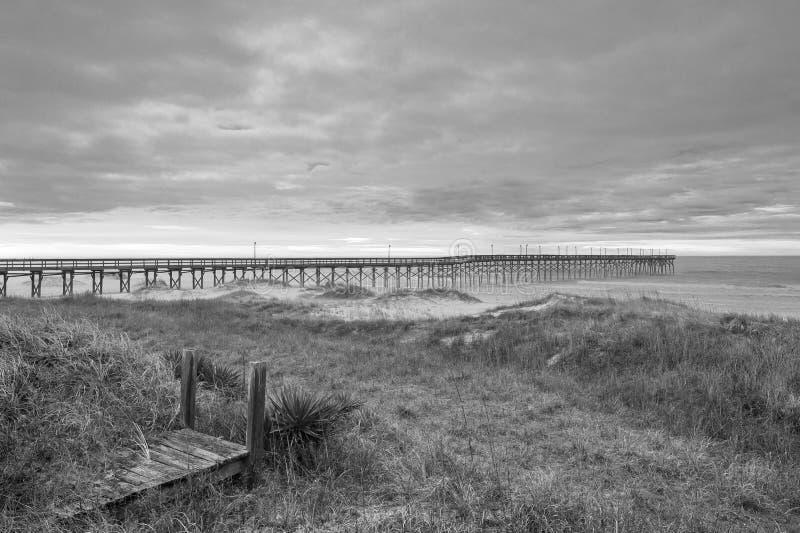 Пляжи Северной Каролины стоковая фотография rf