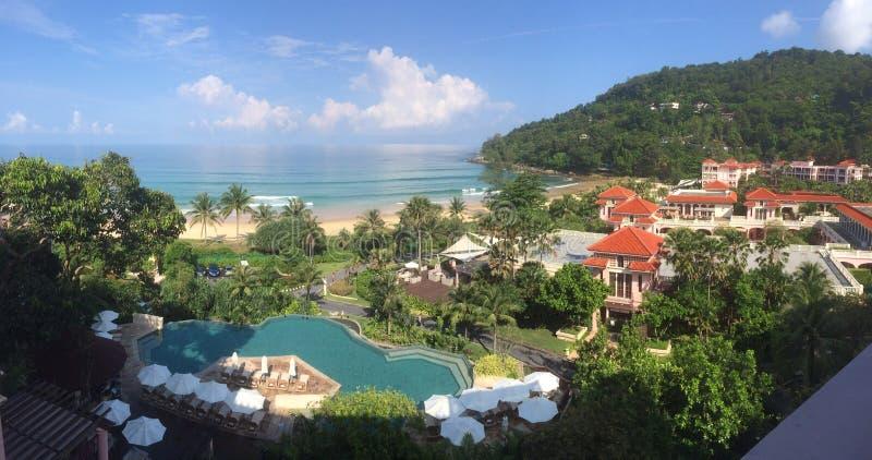 Пляжный комплекс Таиланда стоковая фотография rf