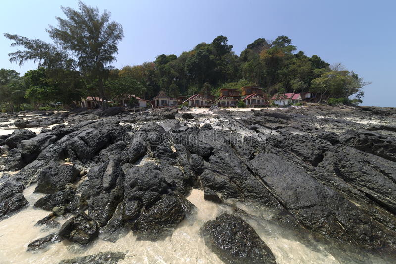 пляжный комплекс стоковое фото rf
