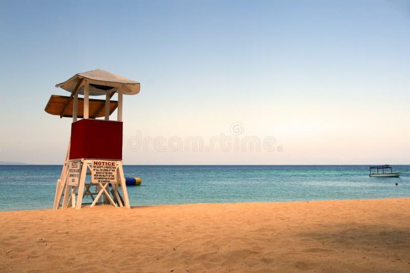 Пляжный клуб Выдалбливать доктора, Montego Bay, ямайка стоковое изображение rf