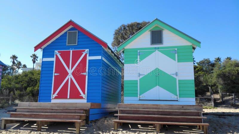 Пляжный домик в Австралии стоковые изображения rf