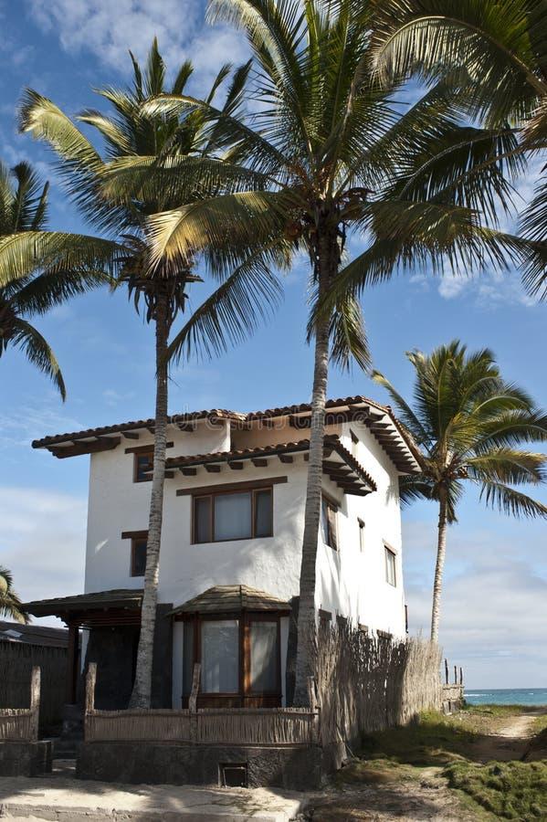 Пляжный домик стоковая фотография rf