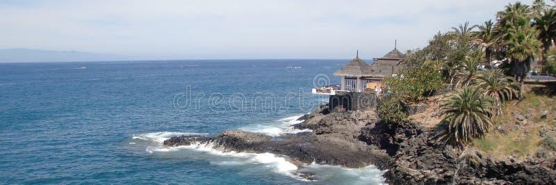 Пляжный ресторан Тенерифе стоковое фото rf