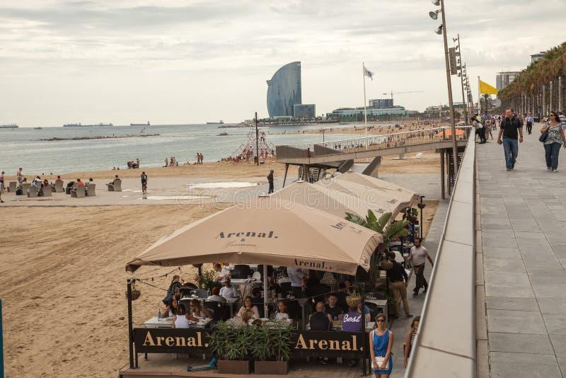 Пляж Барселоны стоковые фото