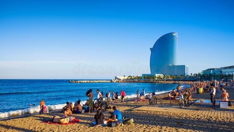 Пляж Барселоны стоковые фотографии rf
