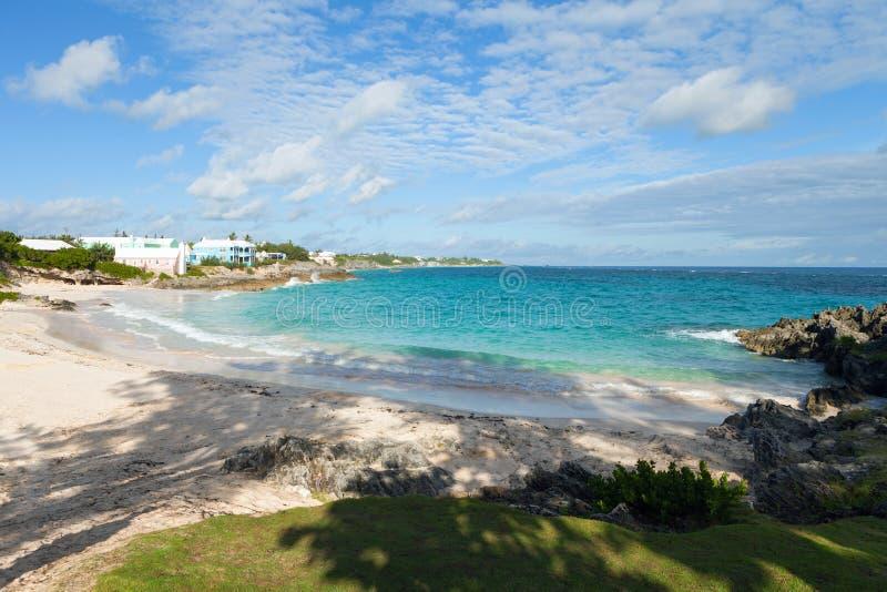 Пляж Бермудские Острова залива кузнцов Джона стоковое изображение