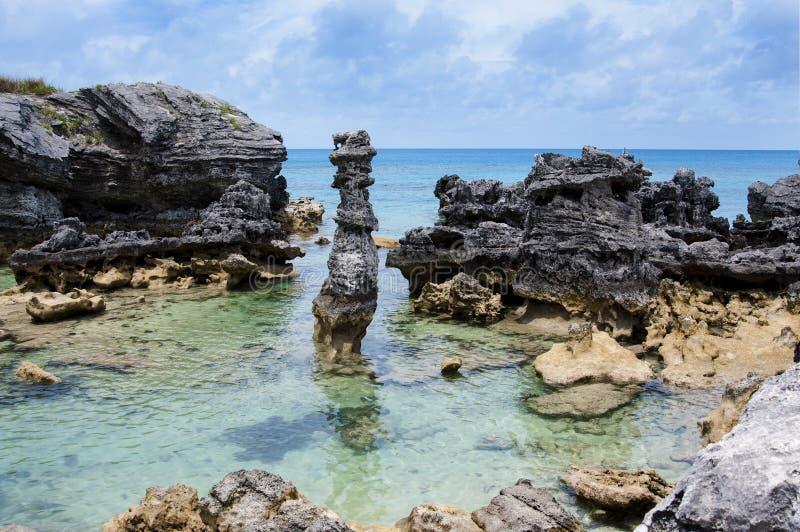Пляж Бермудских Островов. стоковая фотография rf