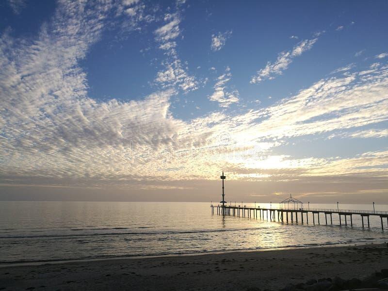 Пляж Брайтона стоковое изображение