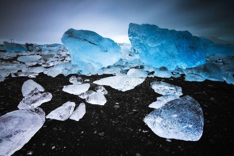 Пляж блоков льда стоковые фото