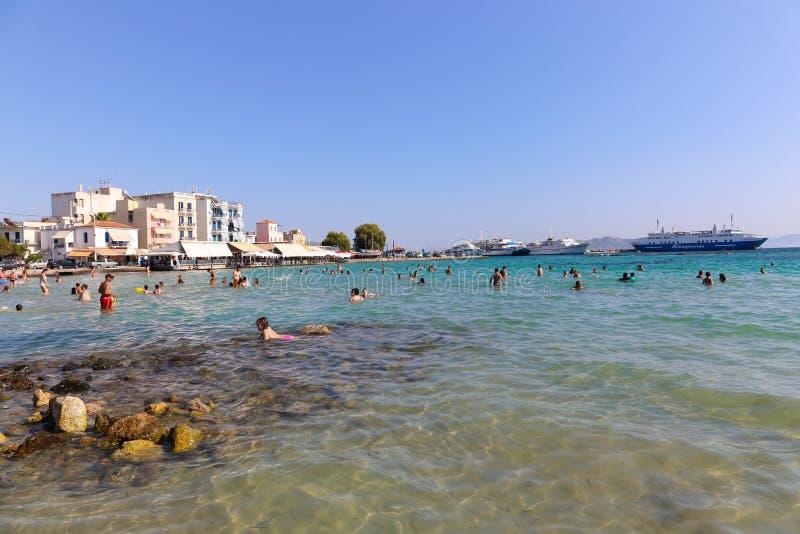 Пляж в Афин, Греции стоковые фотографии rf