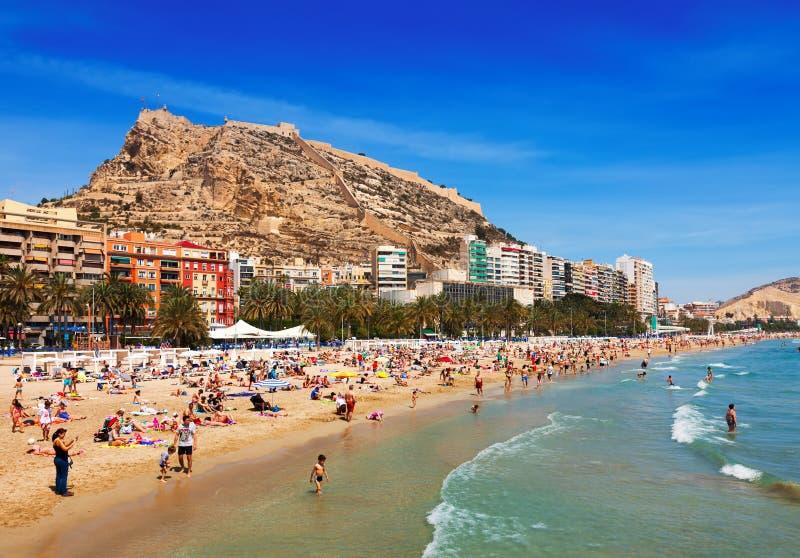 Пляж в Аликанте, Испании стоковое фото