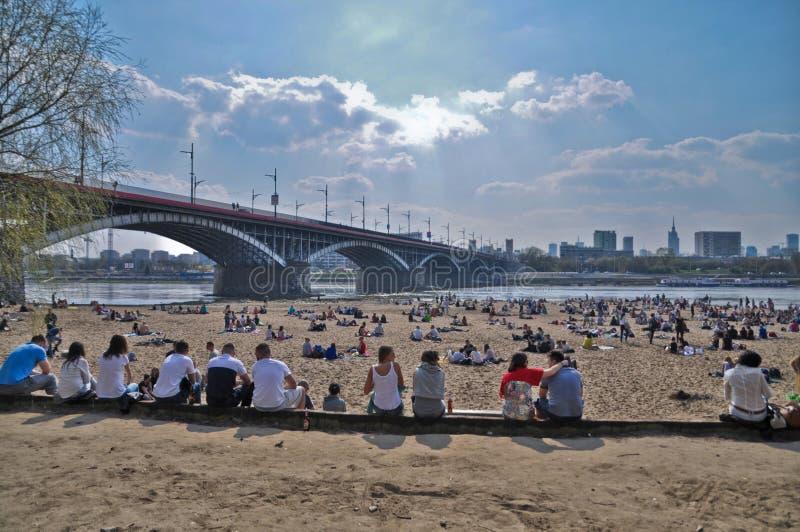 Пляж в Варшаве стоковое фото rf