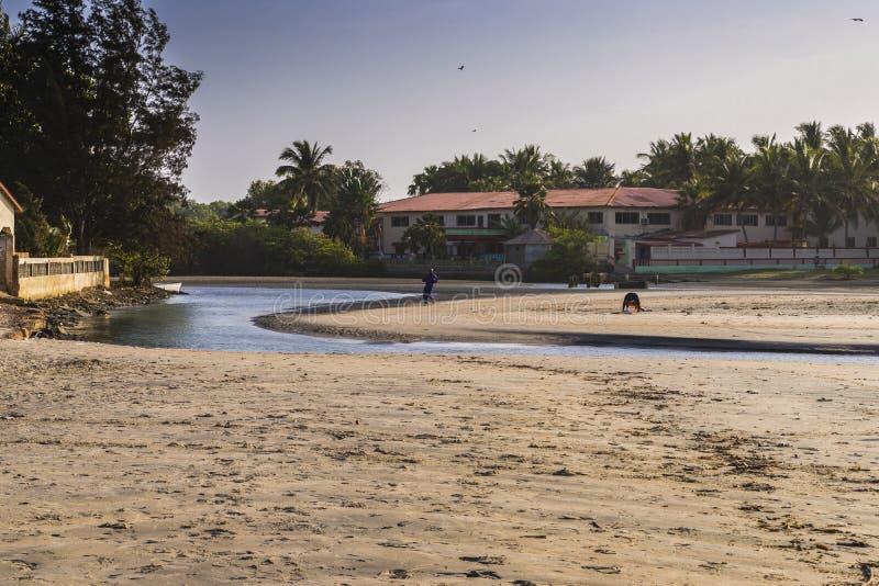 Пляж в Гамбии стоковая фотография rf