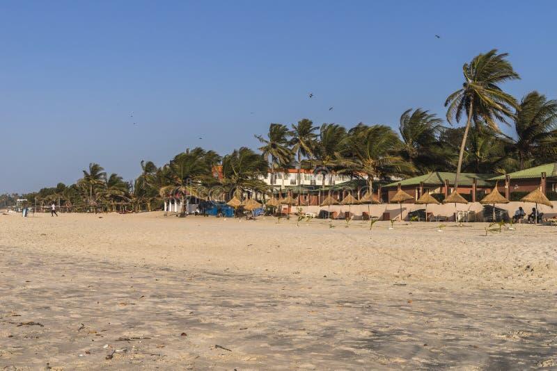 Пляж в Гамбии стоковое фото