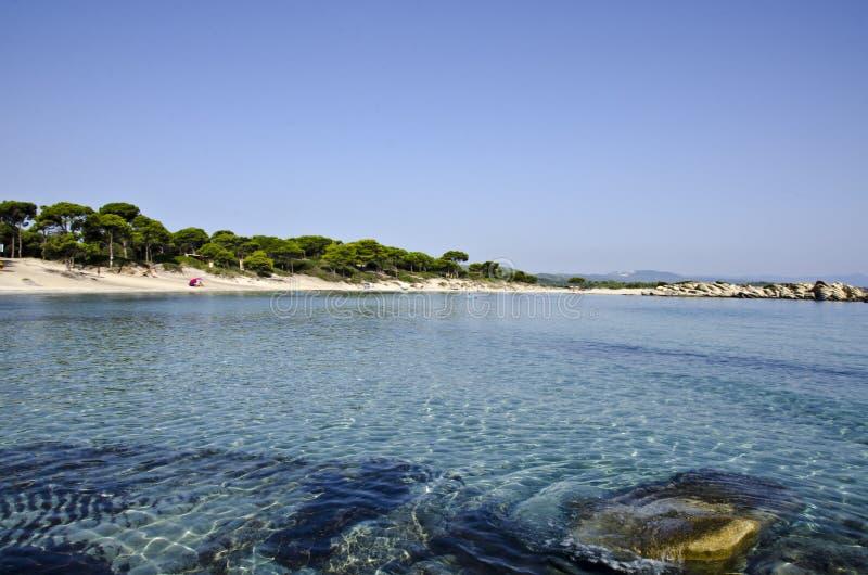 Пляж в Греции стоковые изображения rf