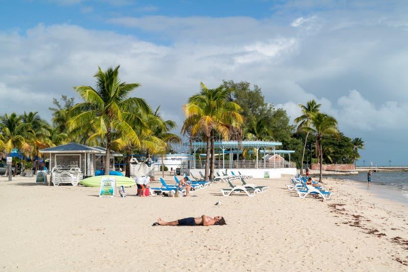 Пляж в ключи Key West, Флориде стоковое фото rf