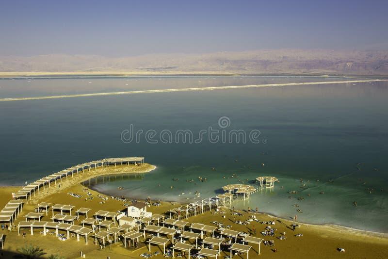 Пляж в мертвом море стоковое изображение