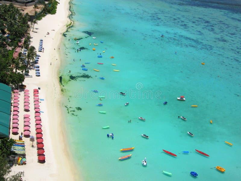 Пляж в острове Гуама стоковые фотографии rf