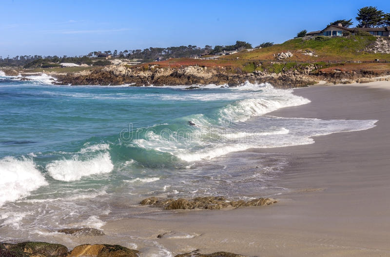 Пляж вдоль привода 17 миль стоковые фотографии rf