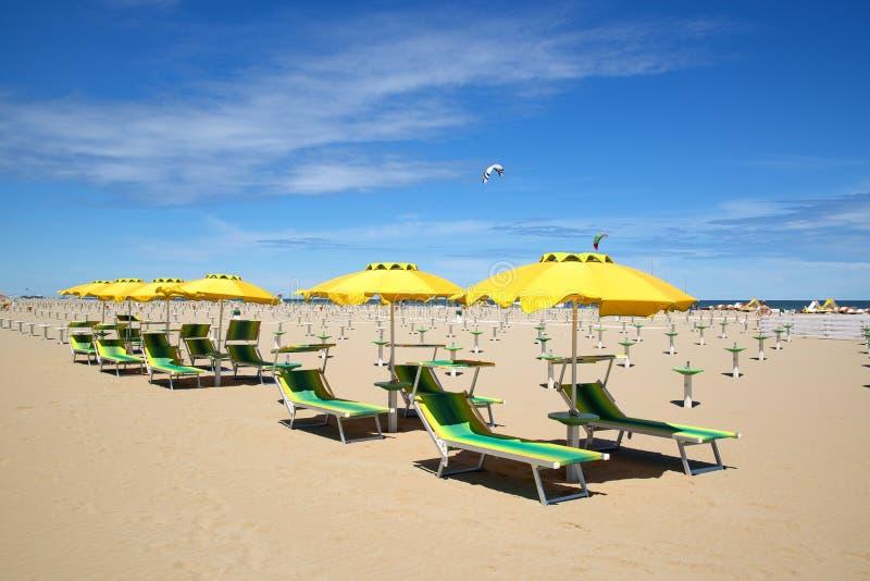 Download Пляж в Римини, Италии стоковое изображение. изображение насчитывающей ванна - 41656055