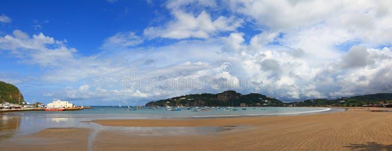 Пляж в Сан-Хуане del Sur стоковая фотография