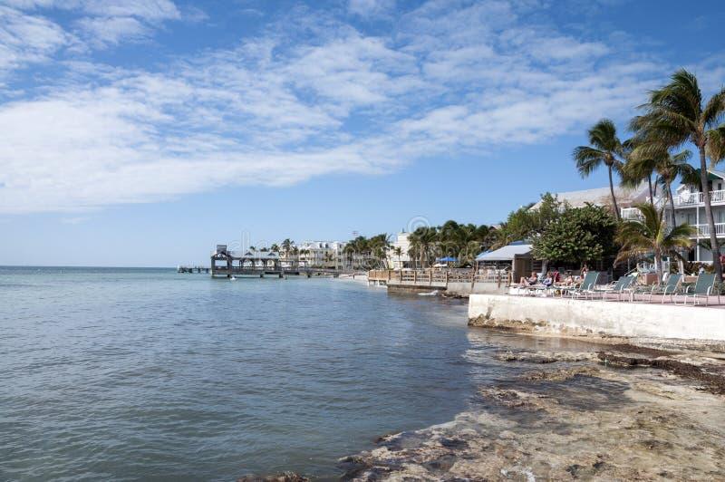 Пляж в Key West, Флориде стоковое изображение