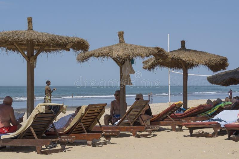 Пляж в Serrekunda стоковые фото