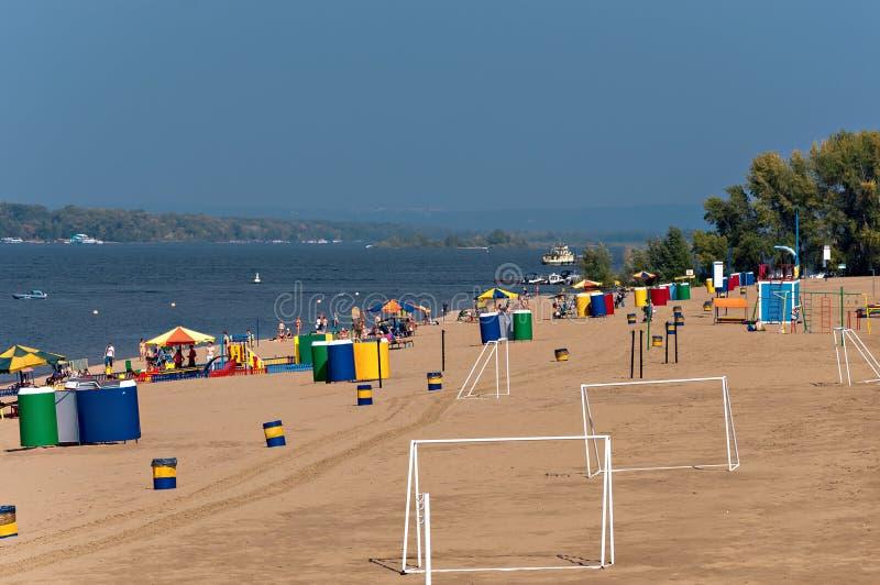 Пляж города стоковое изображение