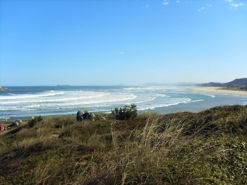 Пляж городка стоковые изображения