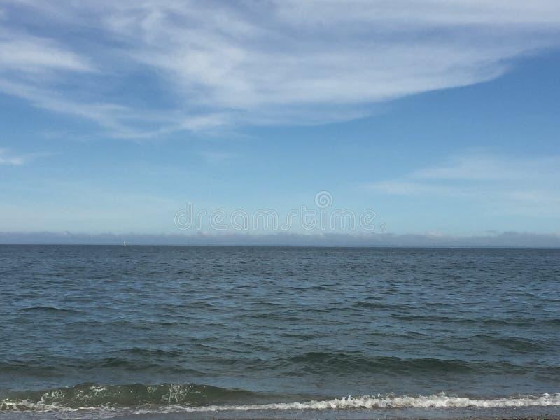 Пляж грецкого ореха в Milford, Коннектикуте стоковое изображение rf