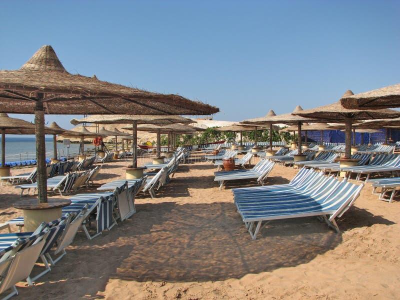 пляж Египет Пляж курорта стоковое изображение