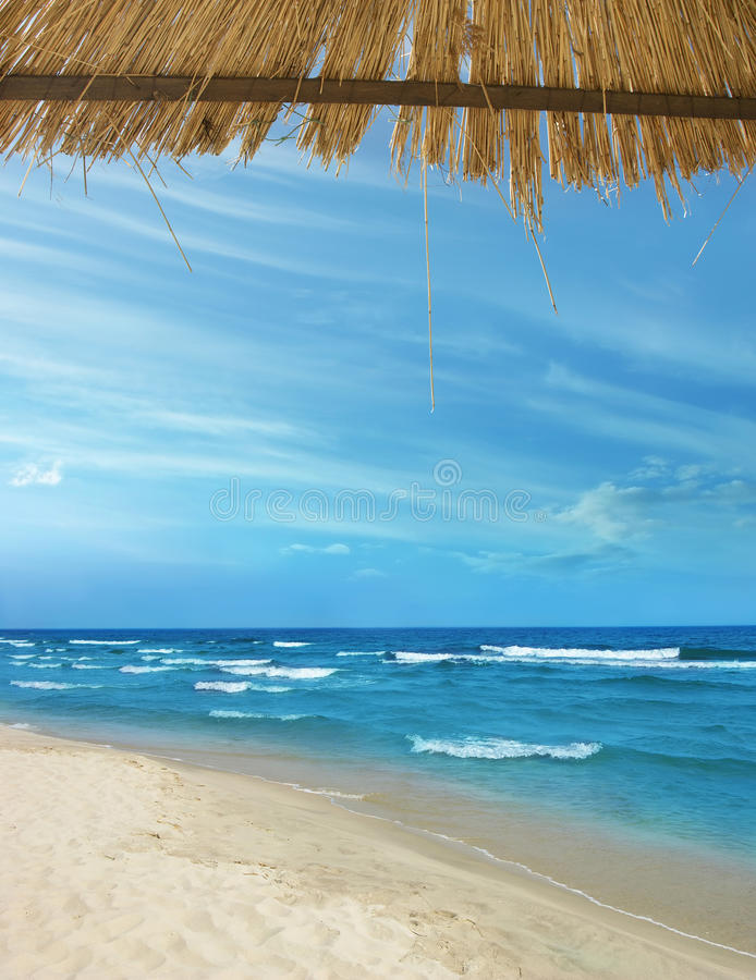 Пляж лета стоковые изображения rf
