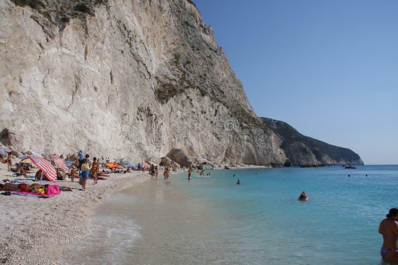 Пляж лефкас стоковое изображение rf