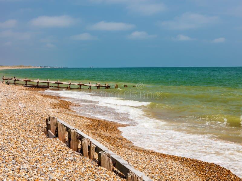 Пляж западное Сассекс Англия Climping стоковые фото